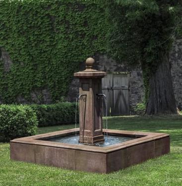 Luberon Estate Fountain (Cast Stone in Aged Limestone finish)