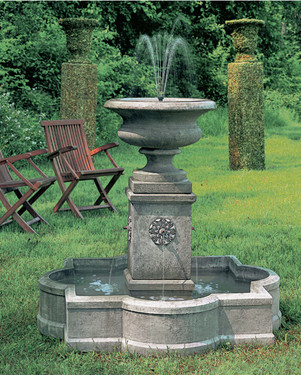 Palazzo Urn Fountain (Cast Stone in Greystone finish)