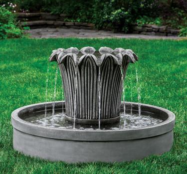 Palomar Fountain Trumpet Shape Garden Fountain In Round