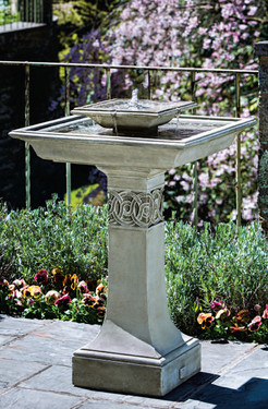 Portwenn Fountain (Cast Stone in Verde finish)