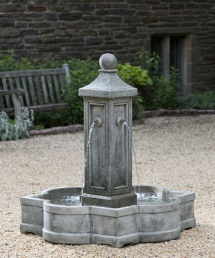 Provence Fountain (Cast Stone in Alpine Stone finish)