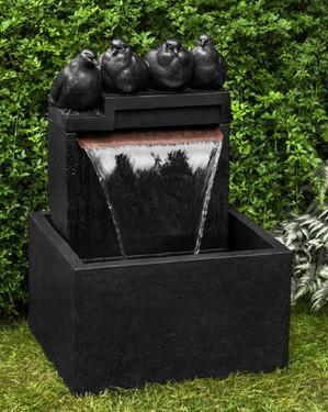 Quartet Fountain (Cast Stone in Nero Nuovo finish)