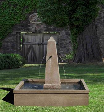 St. Remy Fountain (Cast Stone in Verde finish)