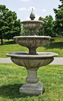 Three-Tier Longvue Fountain (Cast Stone in Alpine Stone finish)