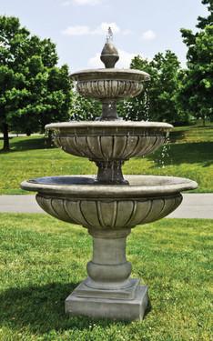 Three-Tier Longvue Fountain (Cast Stone in Alpine Stone finish)