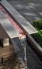Triad Fountain detail (Cast Stone in Greystone finish)