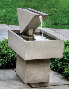 Triad Fountain (Cast Stone in Greystone finish)