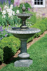 Williamsburg Pineapple Two-Tier Fountain (Cast Stone in Alpine Stone finish)