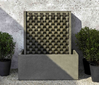 Large M Weave Fountain (Cast Stone in alpine stone finish)