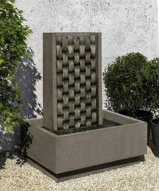 M Weave Fountain (Cast Stone in alpine stone finish)