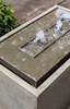 Lutea Fountain detail (Cast Stone in alpine stone finish)