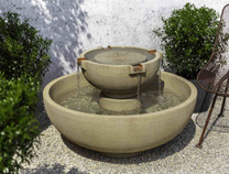 Small Del Rey Fountain (Cast Stone in French Limestone finish)