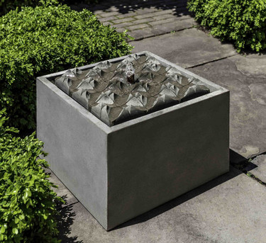 Square Waves Fountain (Cast Stone in Alpine Stone finish)