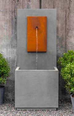 MC1 Fountain Corten Steel (Cast Stone in Alpine Stone finish)