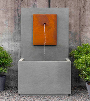 MC2 Fountain Corten Steel (Cast Stone in Alpine Stone finish)