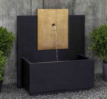 MC3 Fountain Copper (Cast Stone in Nero Nuevo finish)