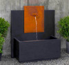 MC3 Fountain Corten Steel (Cast Stone in Nero Nuevo finish)