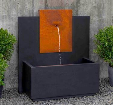 MC3 Fountain Corten Steel (Cast Stone in Nero Nuevo finish)