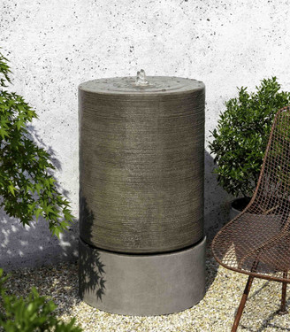 Large Cylinder Fountain (GFRC in Alpine Stone finish)