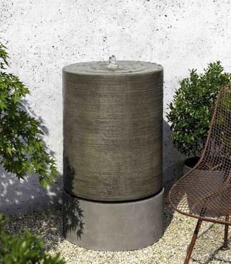 Large Cylinder Fountain (GFRC in Alpine Stone finish)