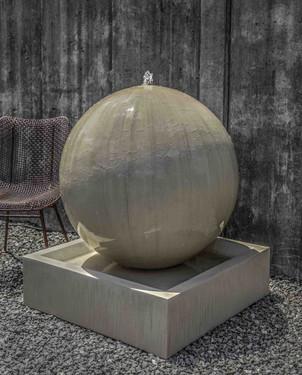 Large Sphere Fountain (GFRC in Alpine Stone finish)