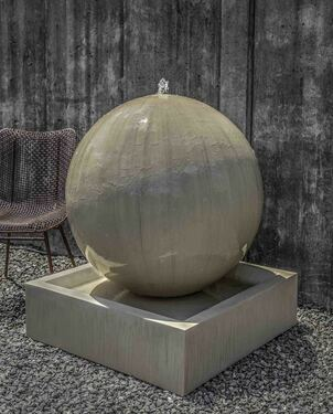 Large Sphere Fountain (GFRC in Alpine Stone finish)