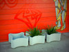 Confetti Planters (Fiber Cement in gray)