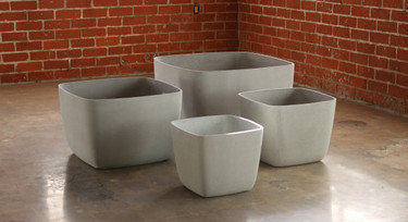 Osaka Low Planters (Fiber Cement in gray)
