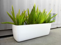 Osaka Low Planters (Fiber Cement in white: ask us about custom color options)