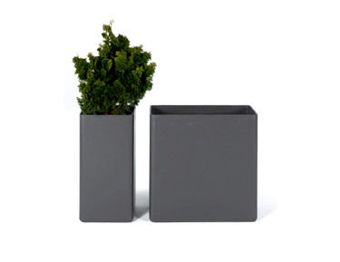 Tower Planters (Fiber Cement in anthracite)