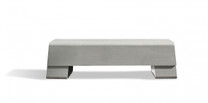 Die Bank Bench (Fiber cement in gray finish)