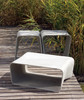 Ecal Stools with Low Table (Fiber cement in gray finish)