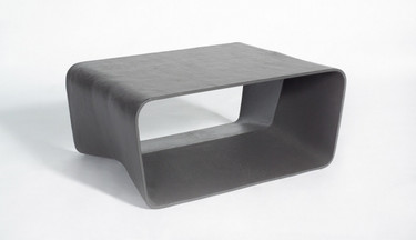 Ecal Stool Table (Fiber cement in anthracite finish)