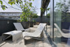 Sponeck Table and Chair (Fiber cement in gray finish)