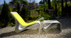 Sponeck Chair and Table Footrest (Fiber cement in gray finish with optional lemongrass felt cover)