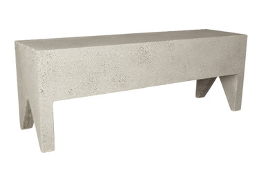 Farm Bench 50in (Fiberglass resin and aggregate in white stone finish)