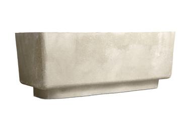 Big Block Bench (Fiberglass resin and aggregate in white stone finish)