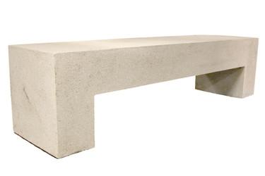 "Aspen Bench 72"" (Fiberglass resin and aggregate in white stone finish)"