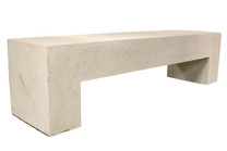 "Aspen Bench 72"" (Fiberglass resin and aggregate in white stone finish)"