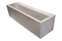 "Terrace Planter 68"" (fiberglass resin and aggregate in natural stone finish)"