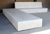 Macrolithe Plinthe Bench with Macrolithe Bench (Fiberglass resin and aggregate in white stone finish)