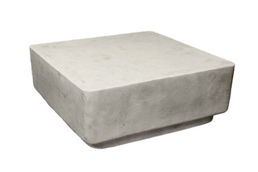 "Big Block Cocktail Table H12"" (Fiberglass resin and aggregate in white stone finish)"