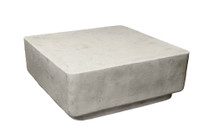 """Big Block Cocktail Table H12"""" (Fiberglass resin and aggregate in white stone finish)"""