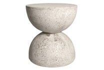 Bilbouquet Table Stool (Fiber resin and aggregate in aged stone)