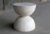 Bilbouquet Table Stool (Fiber resin and aggregate in white stone)