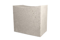 Mason Cut Stool (Fiber resin and aggregate in white stone)