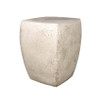 Van Dyke Table Stool (Fiber resin and aggregate in white stone)