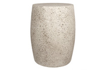 "Barrel Table Stool 14"" x 18"" (Fiber resin and aggregate in natural stone)"