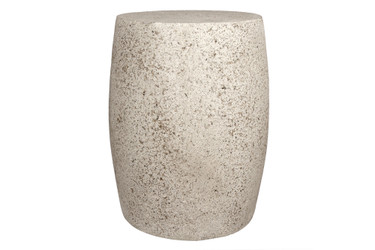 """Barrel Table Stool 14"""" x 18"""" (Fiber resin and aggregate in natural stone)"""