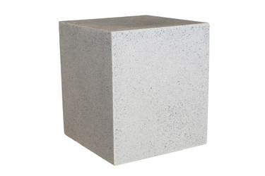 "Square Table Stool 16"" x 18"" (Fiber resin and aggregate in natural stone)"